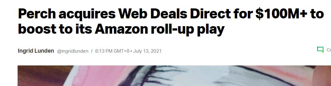 富达平台招商狂热!资本斥资超6亿+元收购一亚马逊卖家品牌